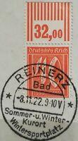 Infla 40Pf Ziffer 1921 WZ 1 Oberrand Mi.Nr:163 W 2-9-2 Sonderstempel