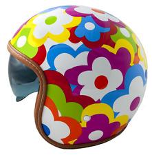 LEM Helmet open face jet with sun visor sunscreen flowers SPORT AGATHA M MULTICO