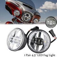 """Paar 4.5"""" LED Nebelscheinwerfer Zusatzscheinwerfer Tagfahrlicht für Harley"""
