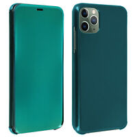 Flip Case for Apple iPhone 11 Pro Translucent Rigid Thin and Light Flap - Green