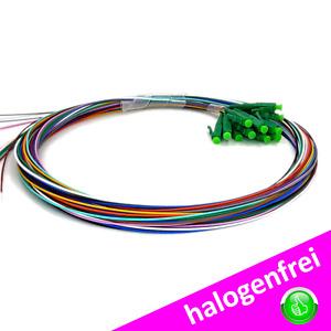 LWL Pigtail Set 12 Faser-Set LC APC LCAPC LC/APC OS2 Singlemode Easy Strip 2m