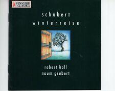 CDROBERT HALL / NAUM GRUBERTSchubert WinterreiseGOLD DISC EX VANGAURD (B3995)