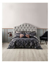 Grace by Linen House Yvette Quilt Cover Set in Navy