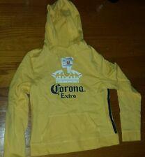 Yellow Corona Extra womens hoodie. Size Medium. Juniors