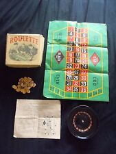 Antique & Rare Roulette Set - Vintage-  by Reliable Toys - Made in England