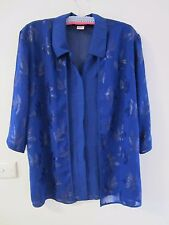 LOVELY ROYAL BLUE ,ALL IN ONE TOP SIZE M [approx 14] by AUSSIE GIRL