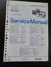 Original Service Manual  Philips  Grampohones 22GF827