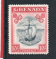 Grenada GV1 1938-50 10s P14 (narrow) sg 163b VLH.Mint