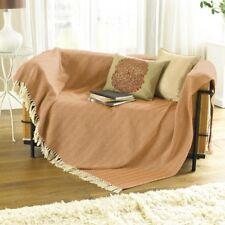 Country Club Opus Herringbone Throw 127x 152cm Burnt Orange Blanket Cover Cotton