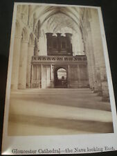 Cdv photograph Gloucester Cathedral the Nave c1870s Ref 504(15)