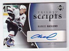 2006-07 NHL Upper Deck Trilogy Scripts #TS-MN Markus Naslund SP / Autographed