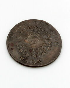 1785 NOVA CONSTELLATIO POINTED RAYS COLONIAL COPPER COIN NO RESERVE #CB73-3
