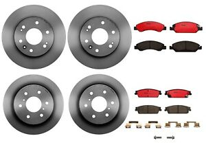 Brembo Front Rear Full Brake Kit Disc Rotors Ceramic Pads For Cadillac Chevy GMC