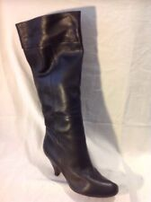 KG By Kurt Geiger Black Knee High Leather Boots Size 37