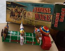 """Schylling TIN TOY Wind Up """"Horse Race"""" collectors edition in Original Box"""