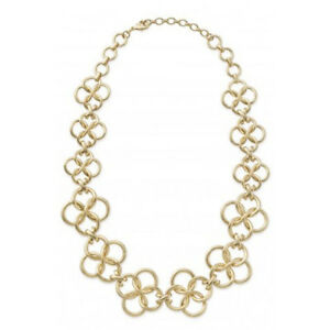 Authentic Stella & Dot Gold Tone Crosby Link Necklace