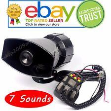 7 Sound 100W Car Warning Siren Alarm Police Ambulance loudspeaker with MIC DC12V