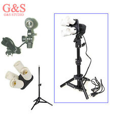 Photo Studio kit 4in1 E27 Socket + Single Lamp Bulb Holder + 42cm light stand