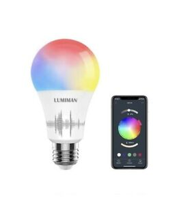 Lumiman Electric 60W Smart Wi-Fi LED Color Changing Dimmable Light Bulb - White