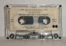 "Elvis Presley ""Valentine"" 1984 RCA Studio Remastered Cassette Tape ~ Promo Copy"