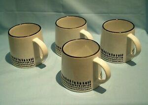 Sainsbury's Nordic Spring Spot Stoneware 4 x Mugs Set New Medium Size