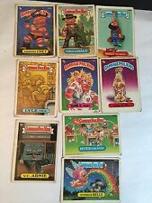 Lot Of 9 1980s Topps Garbage Pail Kids Collectible Trading Cards Gift