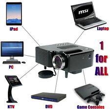 Full HD 1080P Home Theater LED Mini Multimedia Projector Cinema USB Phone PC US