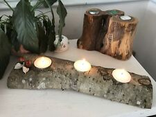 Wooden Christmas Tealight candleholder, Table Centrepiece, Scottish wooden Gift