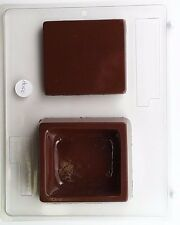 SQUARE CUBE POUR BOX CLEAR PLASTIC CHOCOLATE CANDY MOLD AO100