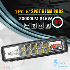 6INCH 816W LED Work Light Bar Offroad Driving Lamp 4WD ATV Spot Flood SUV  TOP+