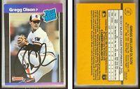 Gregg Olson Signed 1989 Donruss #46 RC Card Baltimore Orioles Auto Autograph