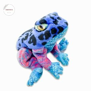 Ty Beanie Babies Star Dart Multi-Colored Poison Frog Beanbag Plush Blue 7in