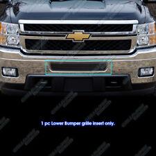 Fits 2011-2014 Chevy Silverado 2500 HD/3500 HD Stainless Black Bumper Mesh Grill