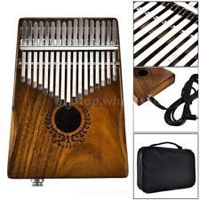 17 Keys Kalimba Solid Acacia Thumb Piano Link Speaker & Pickup Bag Hot Gift