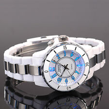 Ohsen Mens Womens 7 Mode Light Sport Military Army Water Proof Quartz Watch White
