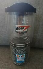 Tervis 24 Oz Tumbler With Lid Black White Gore Advertising Brand New Fast Ship