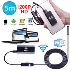 10PC Wasserdicht 8mm 2MP WIFI Endoskop Endoscope Kamera für iPhone PC Android 5M