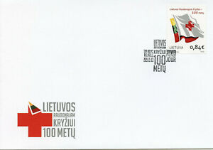 Lithuania 2019 FDC Red Cross 100 Years 1v Set Cover Health Medical Stamps