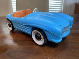 "Vintage 1960's BARBIE Mercedes Blue Convertible by Irwin RARE! Barbie 17"" Long"