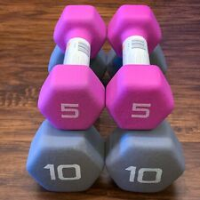 CAP Neoprene Hex Dumbbell Set 2x 5 lb, & 2x 10 lb (30 lb Total) SHIPS TODAY!