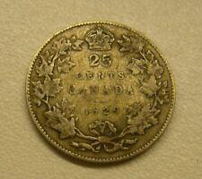 1929 Canada 25 Cents 80% Silver Coin