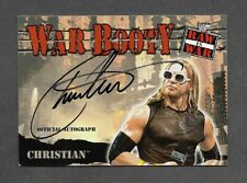 Christian 2001 Fleer War Booty Autograph Auto WWE Wrestling Raw is War Signed RC