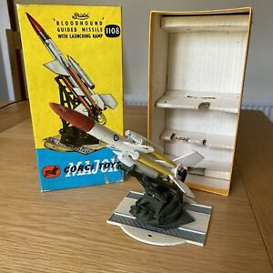 VINTAGE CORGI 1108 Bloodhound Guided Missile with ramp original box and inserts