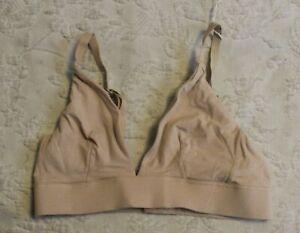 Organic Basics Women's Organic Cotton Line Triangle Bralette BM6 Oak Small