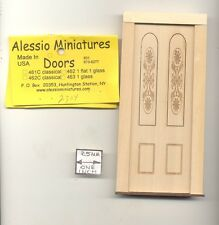 Door - Engraved Panel  2304 wood dollhouse miniature 1:12 scale Made in USA