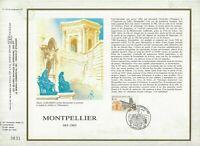 FEUILLET CEF 1er JOUR FRANCE MONTPELLIER 1985