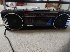 Vintage Sanyo Mini Slim Boombox M7030 AM FM Stereo Radio & Cassette Recorder