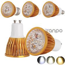 1x 4x 10x Foco LED Regulable MR16 GU10 E27 E14 9W 12W 15W Dorado Bombillas cree