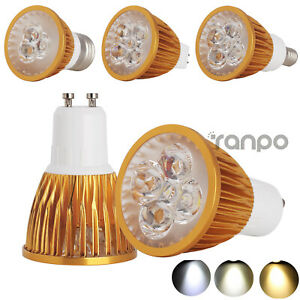 1x 4x 10x Dimmable LED Spotlight MR16 GU10 E27 E14 9W 12W 15W Gold Bulbs CREE