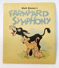 Disney FARMYARD SYMPHONY rare 1939 Whitman Penny Book premium HI-GRADE